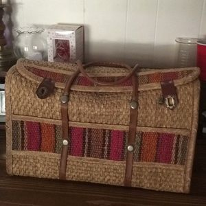 Handbags - Vintage Straw Overnight Bag